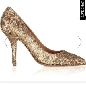 Givenchy gold Sequins pumps